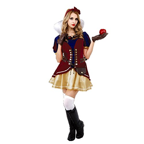 Steampunk Women's White Snow Costume, Small Size
