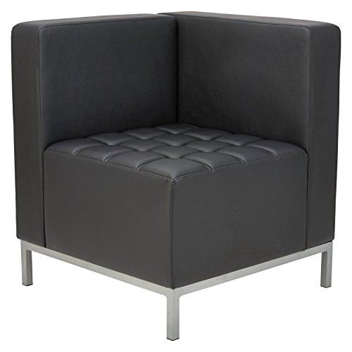 Alera QUB Series Corner Sectional, 26 3/8″ x 26 3/8″ x 30 1/2″, Black