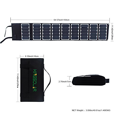 KINGSOLAR™ Highest Efficient 60W Foldable Solar Panel Portable Solar Charger Dual Output (USB Port + DC Output) by KINGSOLAR™ (Image #3)