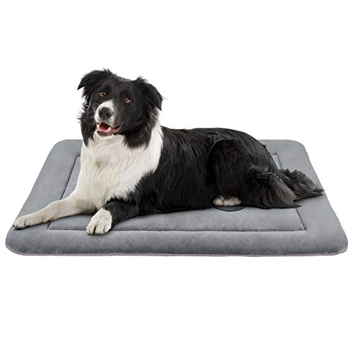 JoicyCo Medium Dog Bed Crate Mat 36 in Anti-Slip Washable Soft Mattress Kennel Pads