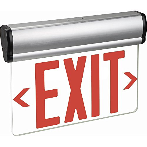 Kaito LED Edge-Lit Exit Sign with Backup Rechargeable Battery and Adjustable Panel, UL Listed - Edge Lit Led Sign