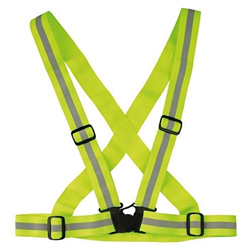 Price comparison product image LEDMOMO Adjustable Reflective Vest Nighttime Reflective Vest Crossbelt Shoulder Strap Belt High Visibility Sports Gear for Running Cycling Walking(Green 3M)