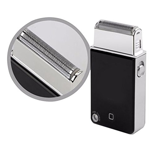 Razorless Electric Travel Shaver,Black Razor Men Travel Electric Razor USB Travel Shaver Rechargeable Shave Great for Travel