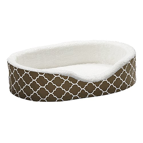 Orthoperdic Egg-Crate Nesting Pet Bed w/ Teflon Fabric Protector, Medium Brown