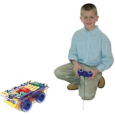 Snap Circuits R/C Snap Rover Electronics Exploration Kit | 23 Fun STEM Projects | 4-Color Project Manual | 30+  Snap Modules | Unlimited Fun: Toys & Games
