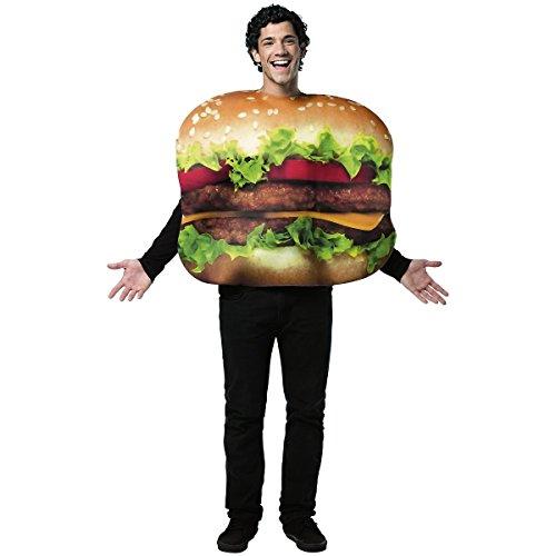 [Rasta Imposta Cheeseburger Costume, Multi-Colored, One Size] (Ronald Mcdonald Costume)