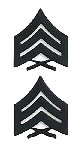 Marine Corps Collar Device (Marine Corps Sergeant Black Collar Device Rank Insignia Pair)
