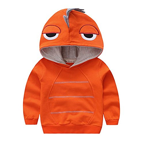 Canvos Baby Boys Autumn Long Sleeve Dinosaur Hoodie Toddler Outwear Clothes (3-4Y, - Toddler Hoodie Boys Sweatshirt