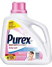 Purex 2582205 Purex Baby Soft, Hypoallergenic Liquid Laundry Detergent, 4.23L, 105 Loads, Blue