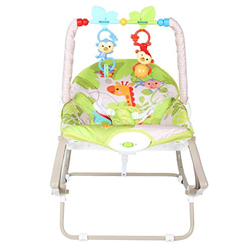 Ichiias Baby Chair Detachable Soft Baby Rocking Chair Cradle with Two Toys