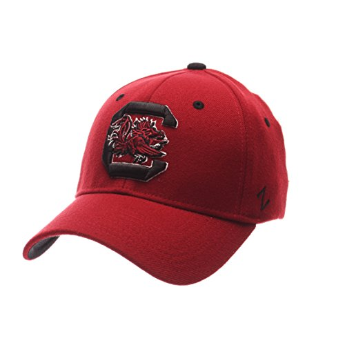 Zephyr NCAA South Carolina Fighting Gamecocks Men's ZH Stretch Fit Cap, Cardinal, Medium/Large