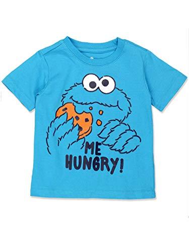 Sesame Street Cookie Monster Baby Toddler Boys Short Sleeve Tee (2T, Blue) -