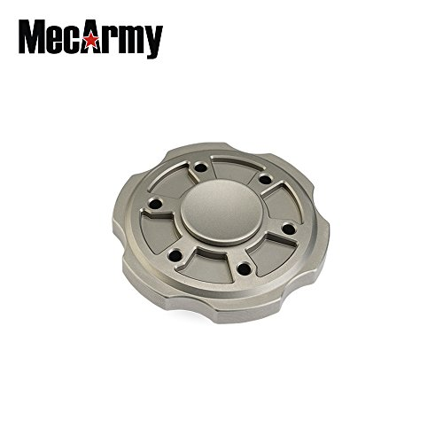 Mecarmy GP3 round version Titanium Fidget Spinner, relax Game, Hand Excise, Relieves Stress and Anxiety (sandblasted) by MeCarmy (Image #1)