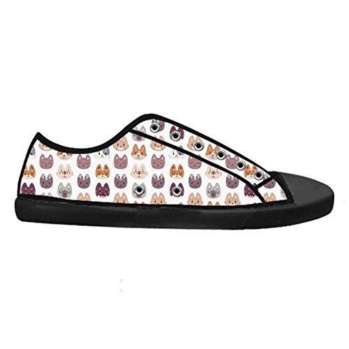Dalliy Custom Fox Mens Canvas Shoes Schuhe Lace-Up High-Top Sneakers Segeltuchschuhe Leinwand-Schuh-Turnschuhe D