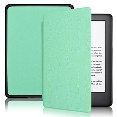 Basde Tablet Covers for Amazon All-New Kindle Paperwhite Water-Safe Leather Case Cover (10th Generation-2019), Flexible Soft Gel Super Slim and Ultra Lightweight Edition (Mint Green)