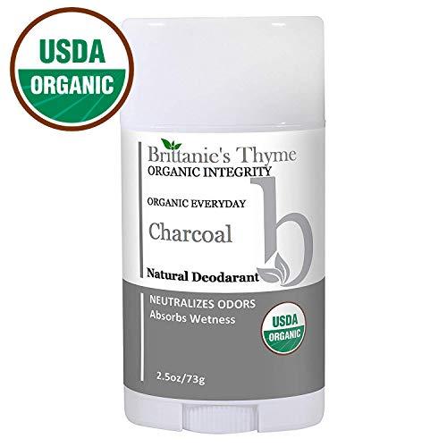 Organic Charcoal Deodorant - The Only USDA Certified Organic, Certified Gluten Free, Vegan, Cruelty Free for Men & Women