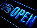 OPEN Royal Flush Casino Poker Bar LED Sign Neon Light Sign Display j865-b(c)