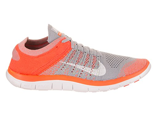 NIKE Men's Free Flyknit 4.0 Running Shoe Wolf Grey/White Ttl Orange Vlt cheap pictures sale purchase sale finishline for nice cheap price outlet low shipping fee JwCguQR5