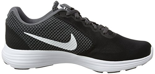 NIKE Womens Revolution 3 Running Shoe Dark Grey/White/Black lyGFL