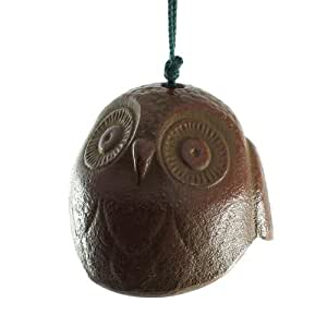 Round Owl Cast Iron Wind Bell