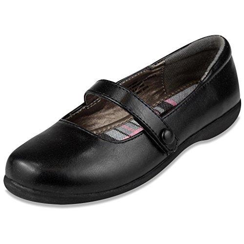 French Toast Girls Erin Uniform Dress Shoe 13 Black (Best School Uniform In India)