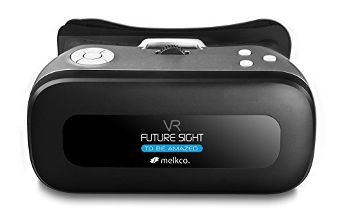 Melkco Future Sight All-in-One VR Set 3D Virtual Reality Headset WiFi 2.4G Bluetooth 1080P 360 Viewing Immersive Supports TF Card for PC Movie Games Youtube Google Play - Grey by Melkco