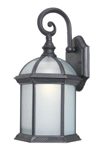 Woodbridge Lighting 61030WL-BKP Glenwood 1-Light Outdoor Wall Sconce, Powder Coat Black, Small Small Outdoor Lighting