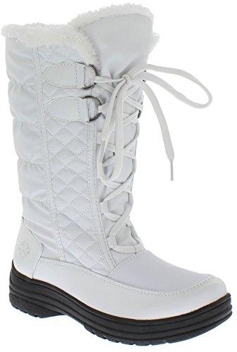 totes Women's Jami Snow Boot, White, 9