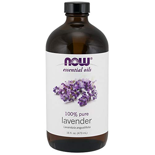 NOW Essential Oils, Lavender Oil, Soothing Aromatherapy Scent, Steam Distilled, 100% Pure, Vegan, 16-Ounce