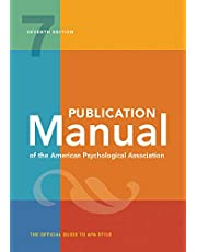 Publication Manual of the American Psychological Association 7ed