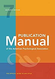 Publication Manual of the American Psychological Association: , Official, 2020 Copyright