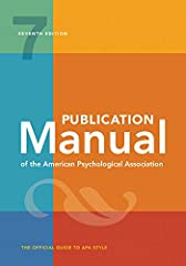 The new 2020 copyright release of the Publication Manual of the American Psychological Association, Seventh Edition includes three different formats — spiral and tabbed, paperback, and hardcover, all of which are full-color. It is the officia...