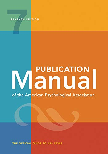 Publication Manual of the American Psychological