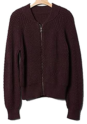 Gap Kids Girls Wine Ribbed Zip Bomber Sweater XL 12 - Gap Girls Jacket