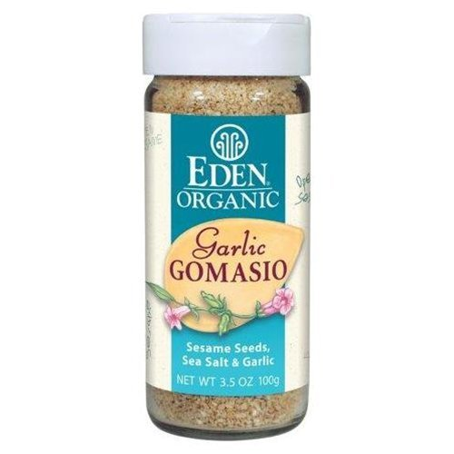 Eden Foods Organic Gomasio - Sesame Salt - Garlic - 3.5 oz - Case of 3