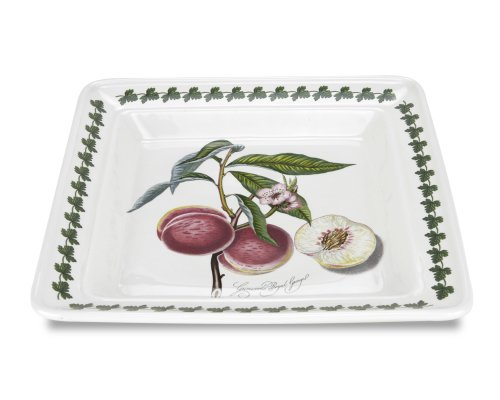 Earthenware Square Plates - Portmeirion Pomona Square Salad Plate, Set of 6 Assorted Motifs