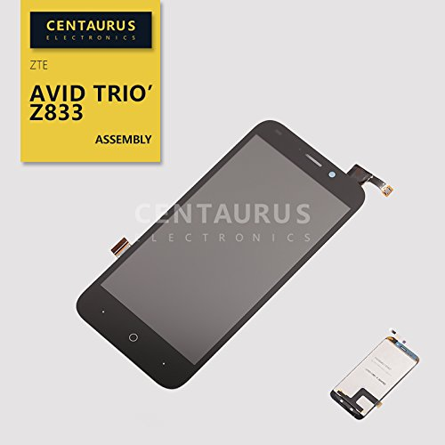 """cbc9fcfccc73d4 Image Unavailable. Image not available for. Color: For ZTE Avid Trio Z833  5"""" Assembly LCD Display Touch Screen Digitizer Replacement Black"""