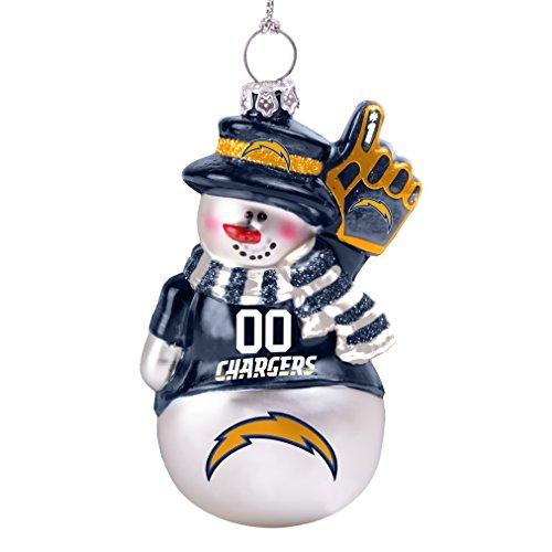 NFL San Diego Chargers Glitter Snowman Ornament