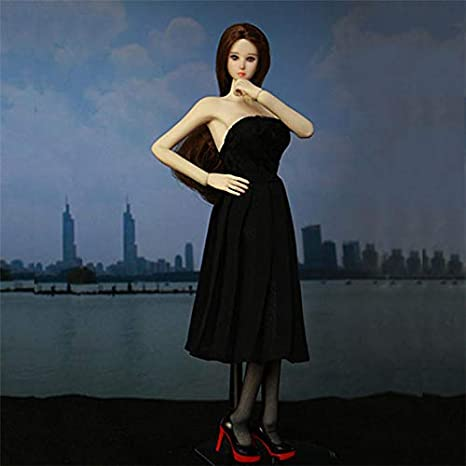 Black Dress With High Heels For 16 12inch Doll Dress Fashion