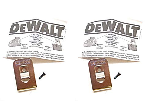 DeWALT N268241 Belt Hook Kit (2 Pack) (Tool Locknut Kit)