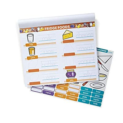 Melissa & Doug First Words Activity Pad - 288 Stickers to Match, Great Gift for Girls and Boys - Best for 4, 5, 6, and 7 Year Olds: Toys & Games