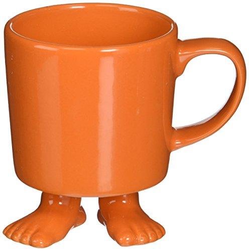 Dylan Kendall Premium Stoneware Footed Mug, Orange