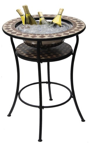 Deeco Consumer Products Coco Classico Bar Table/Ice Basin Insert, - Darby Ice