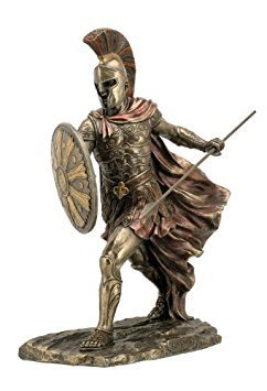Sale - Achilles Unleashed with Spear & Shield Statue Sculpture Figurine Troy
