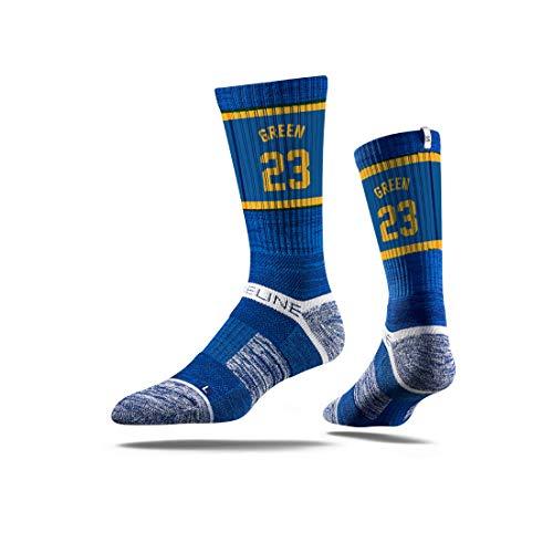 Strideline NBA Golden State Warriors Draymond Green Jersey Premium Athletic Crew Socks, One Size