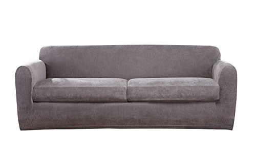Sure Fit Ultimate Stretch Chenille Two Cushion Sofa Slipcove