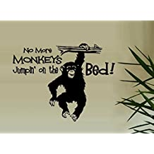 "No more Monkeys Jumpin' on the Bed #3 ~ Wall or Window Decal (20"" x 26"")"