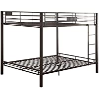 ACME Kaleb Sandy Black Queen over Queen Bunk Bed