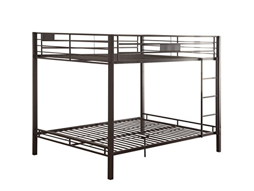 Bedroom Furniture Youth Collection (Acme Kaleb Sandy Black Queen Over Queen Bunk Bed)