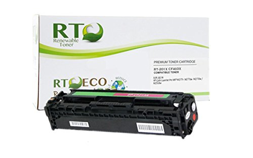 Renewable Toner 201X Compatible High Yield Toner Cartridge Replacement HP CF403X for HP Color LaserJet Pro MFP M277n M252 (Magenta)